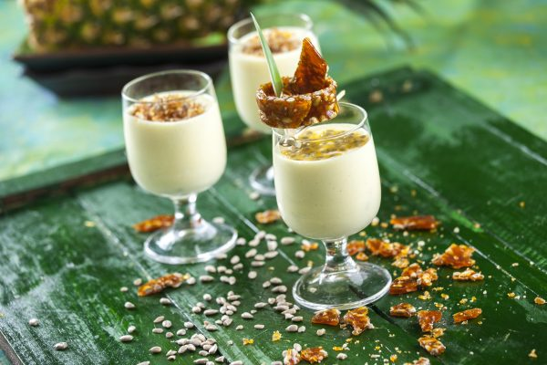 Nougatine de sementes de girassol com mousse de abacaxi CHHE 5