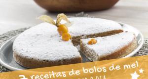 7 receitas de bolos de mel