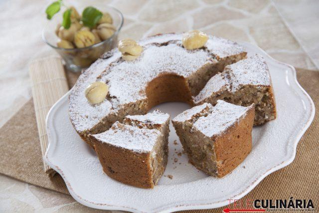 bolo de castanha com frutos secos
