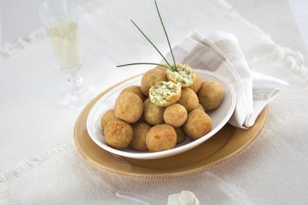 croquetes de arroz com mascarpone