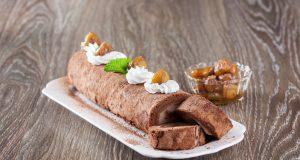 receita de torta de chocolate e castanhas