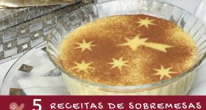 5 receitas de sobremesas de natal
