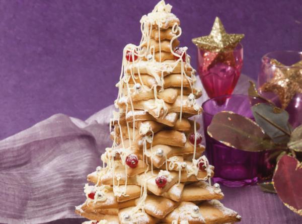 árvore biscoitos de natal