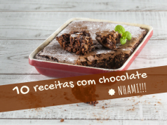 10 receitas com chocolate