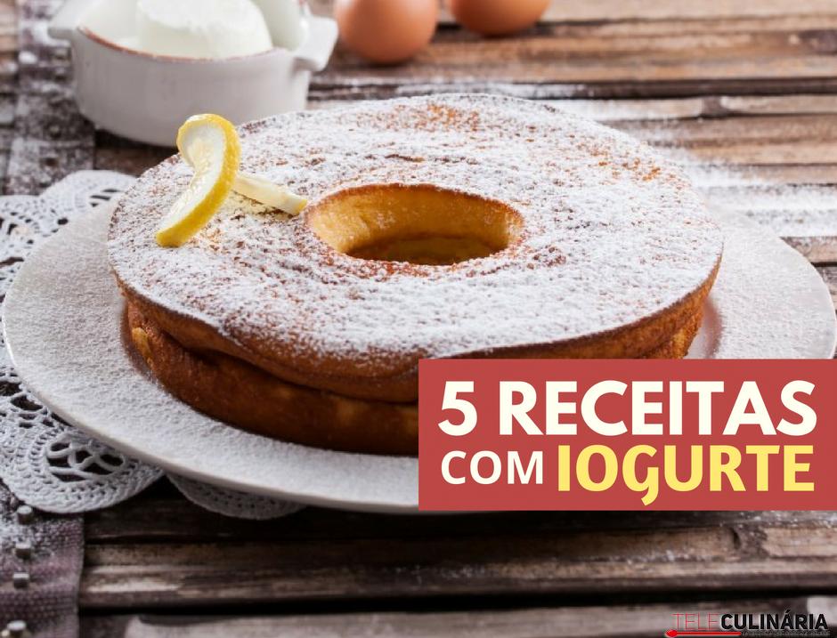 5 receitas com iogurte