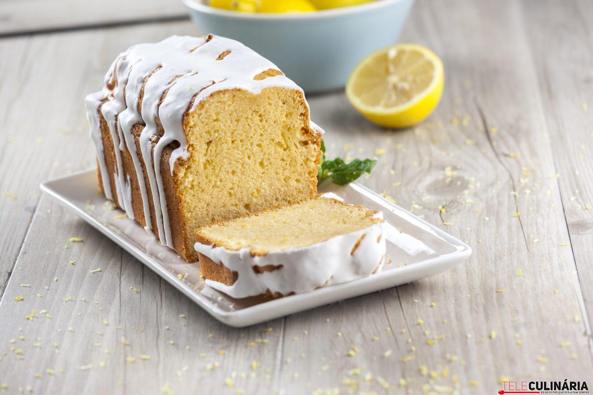 bolo de limão com glace