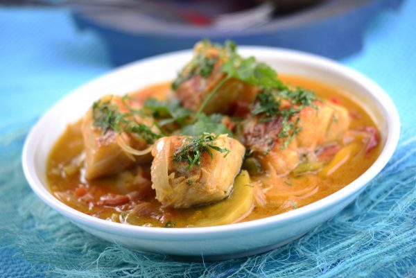 Caldeirada de bacalhau com batata doce