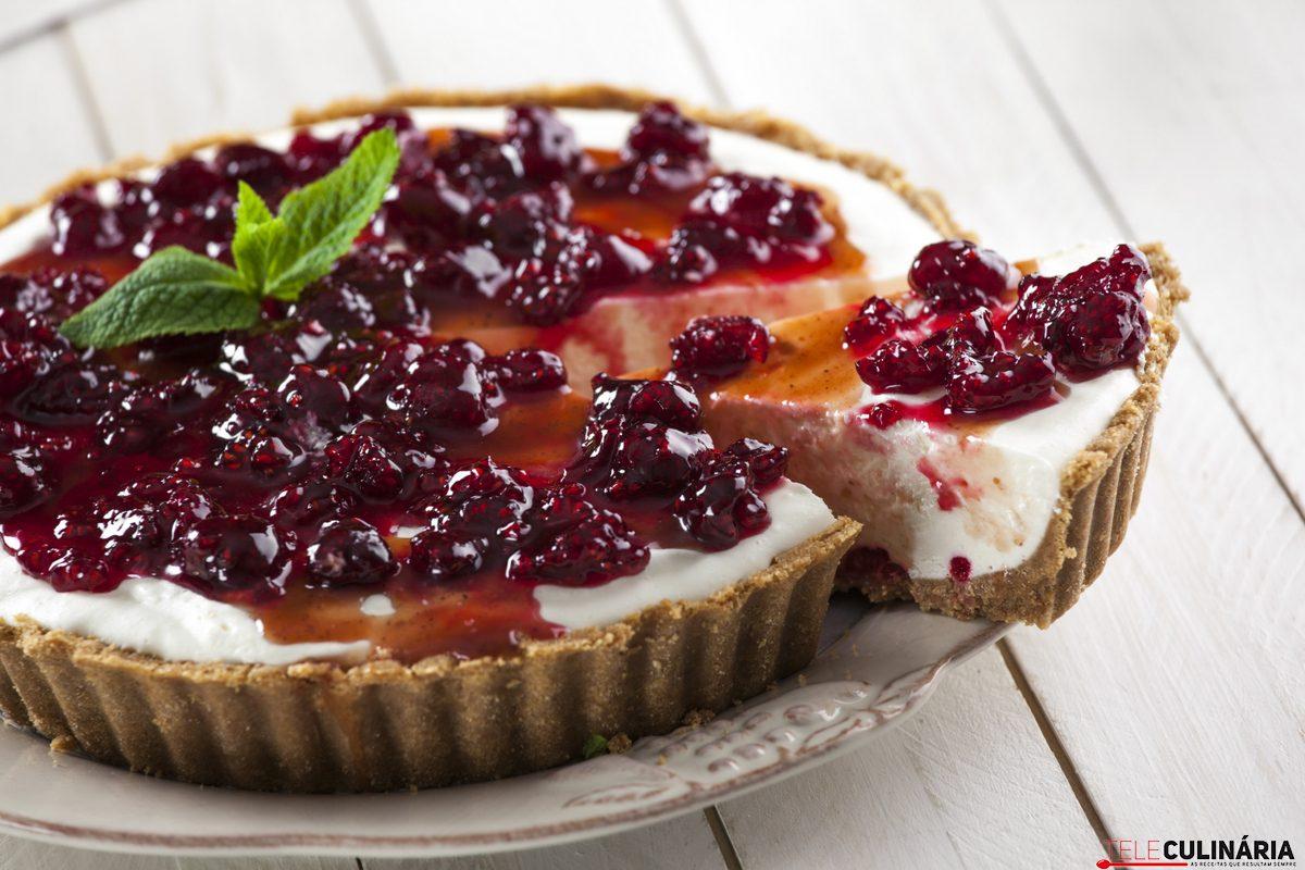 RF Tarte de cheesecake com framboesas CHLM 18