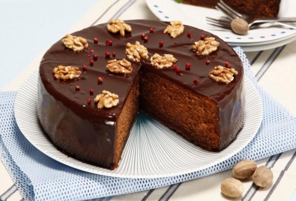 bolo de chocolate com pimenta e noz moscada teleculinaria