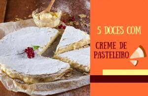 5 doces com creme de pasteleiro