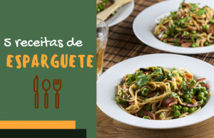 5 receitas de esparguete