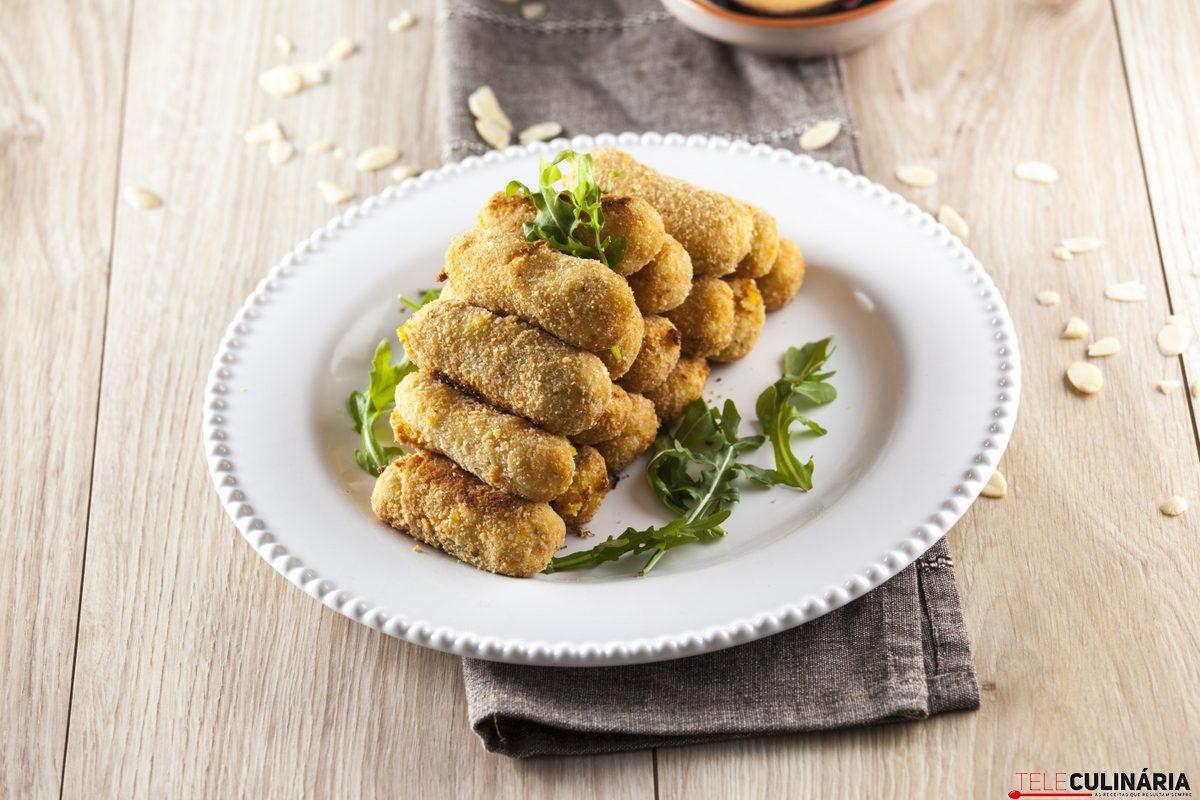 Croquetes de batata doce e amêndoa