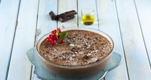 Mousse de chocolate com azeite