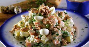 Salada russa de atum com maionese caseira