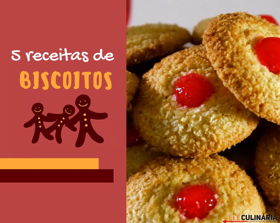 5 receitas de biscoito