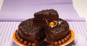Bolo delicioso de chocolate