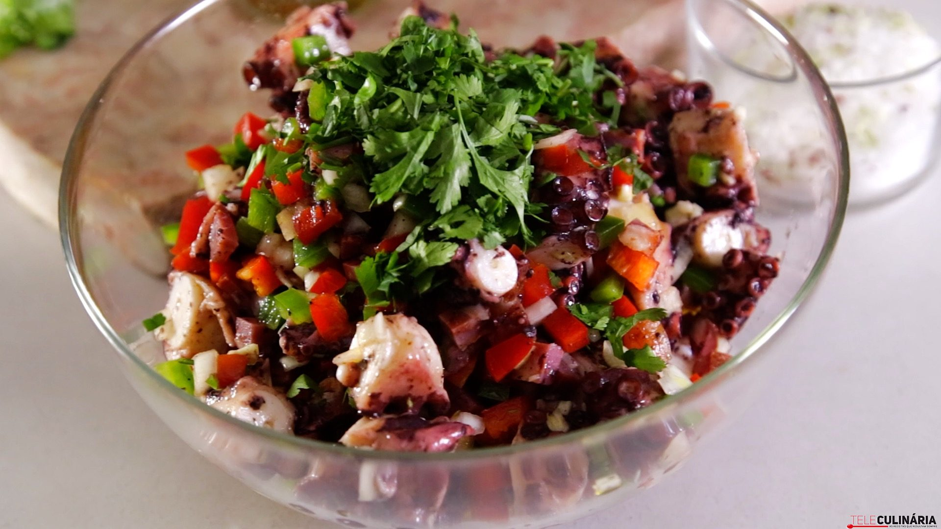 Salada de polvo com salpicão