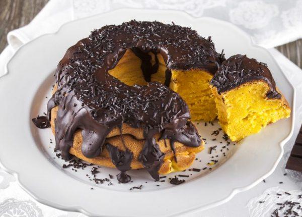 Bolo de abobora com cobertura de chocolate CHFB 4 e1517228185329