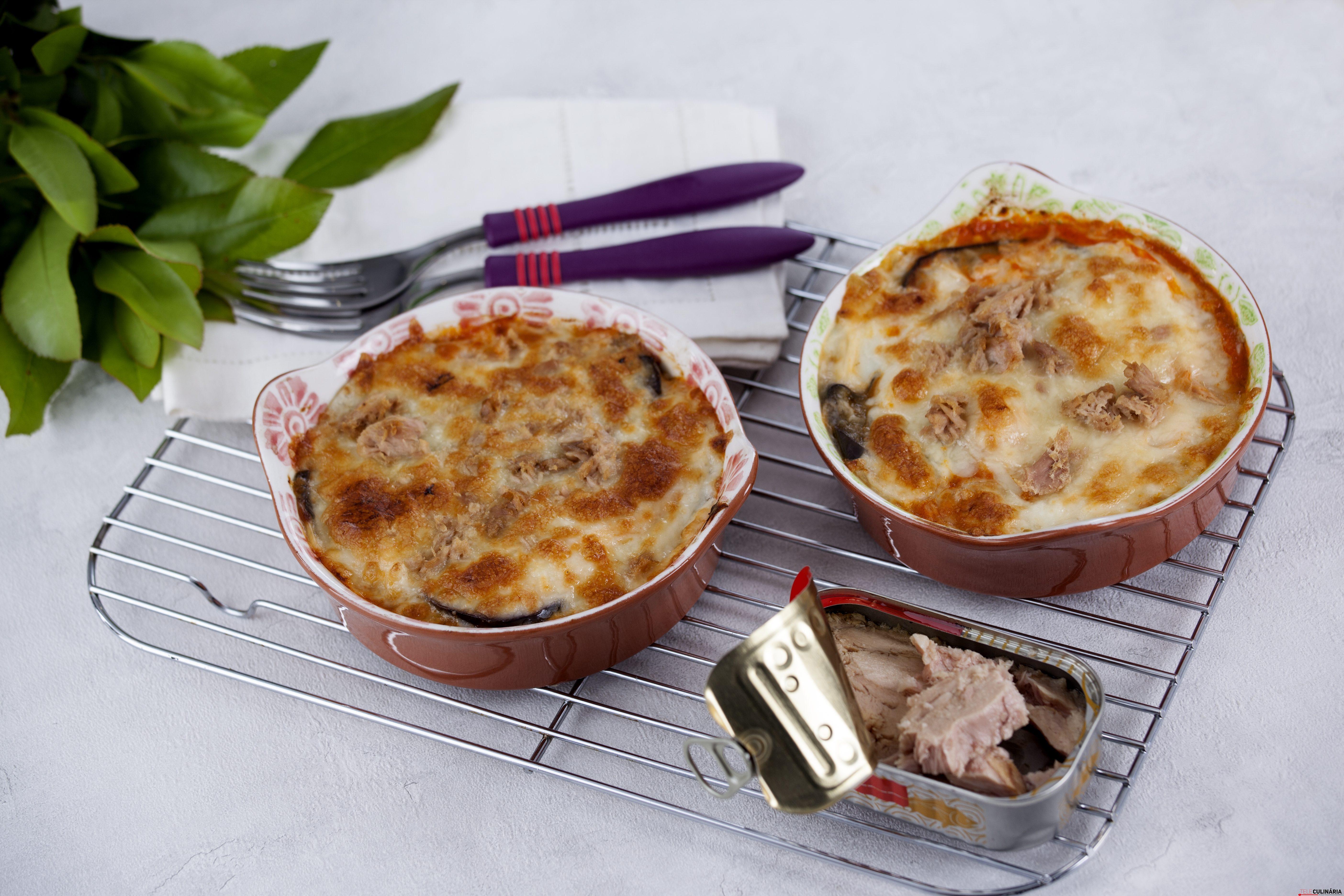 receita de lasanha de atum com beringela