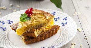 Receita de tarte de pêssego e amêndoa