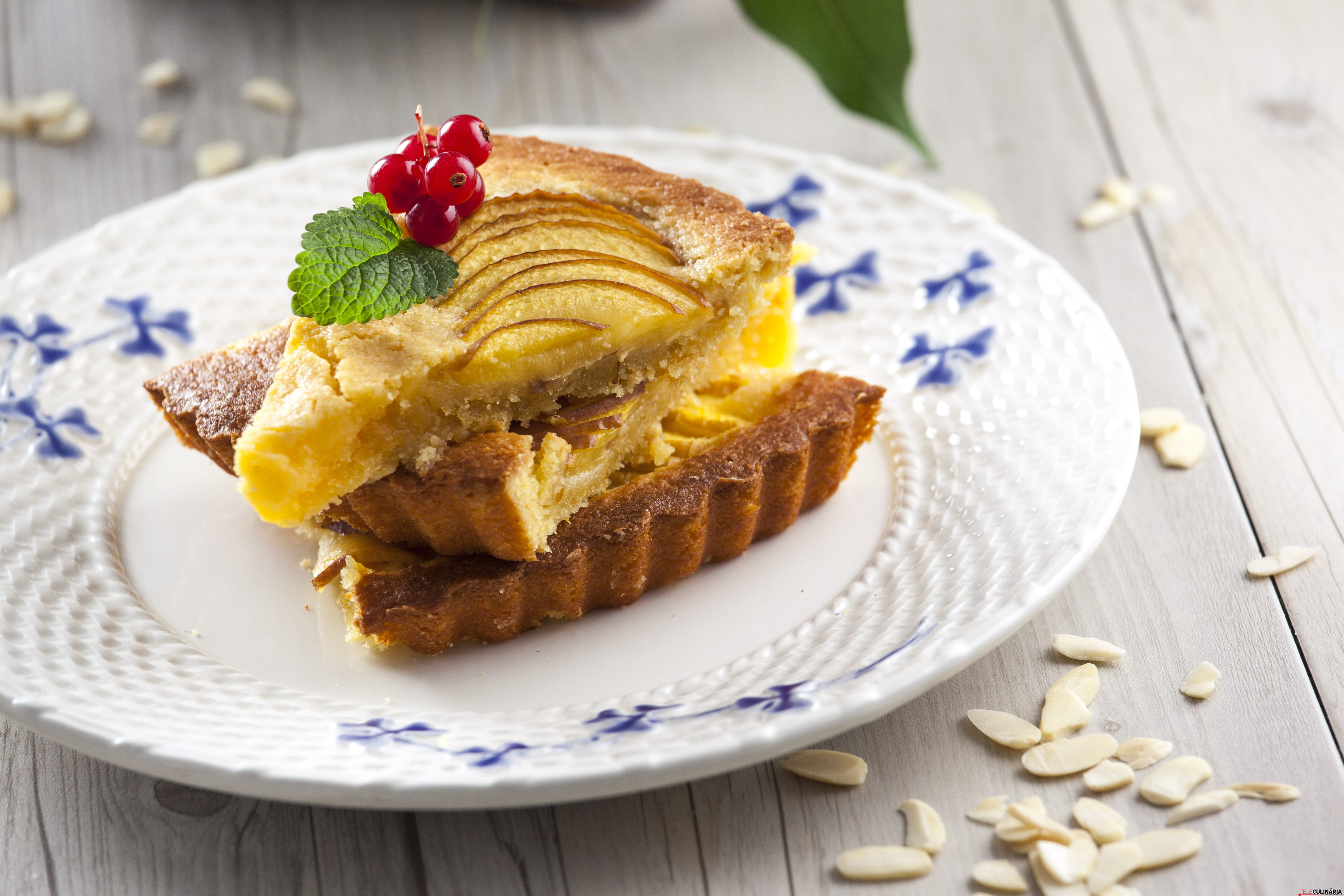 Tarte de pessego e amendoa CHAA 8