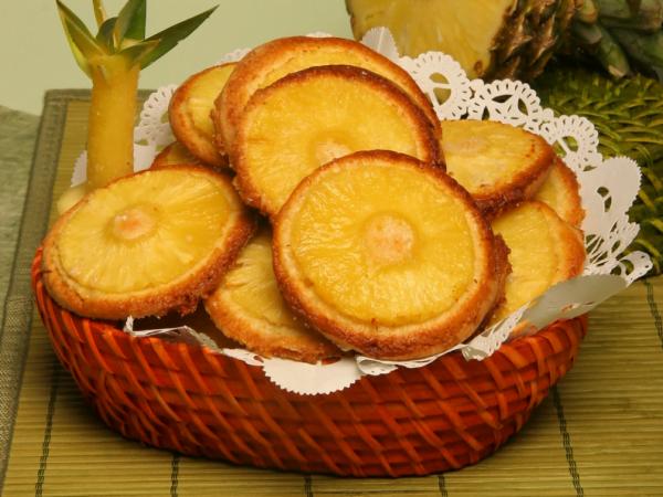 bolachas de ananas