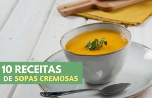 10 receitas de sopas cremosas