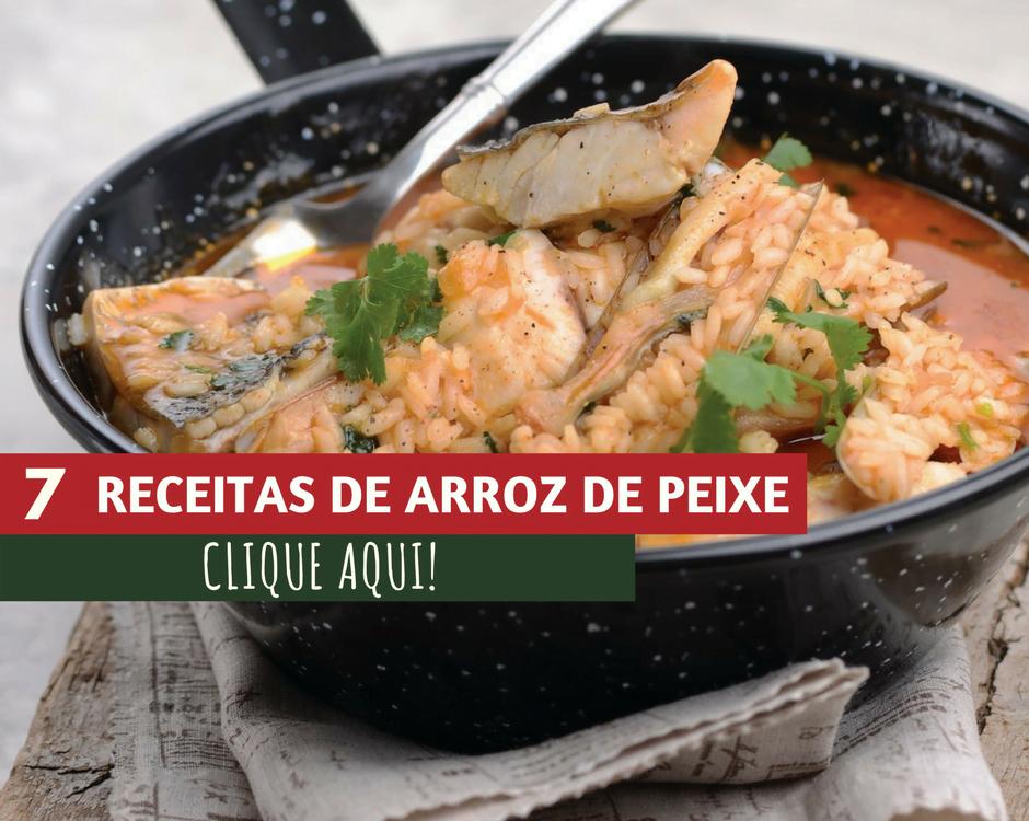 7 receitas de arroz de peixe
