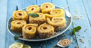 Torta de amêndoa com creme de limão