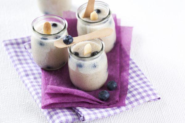 iogurtes de amendoa com mirtilos 1