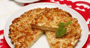 receita de tarte de amêndoa caramelizada