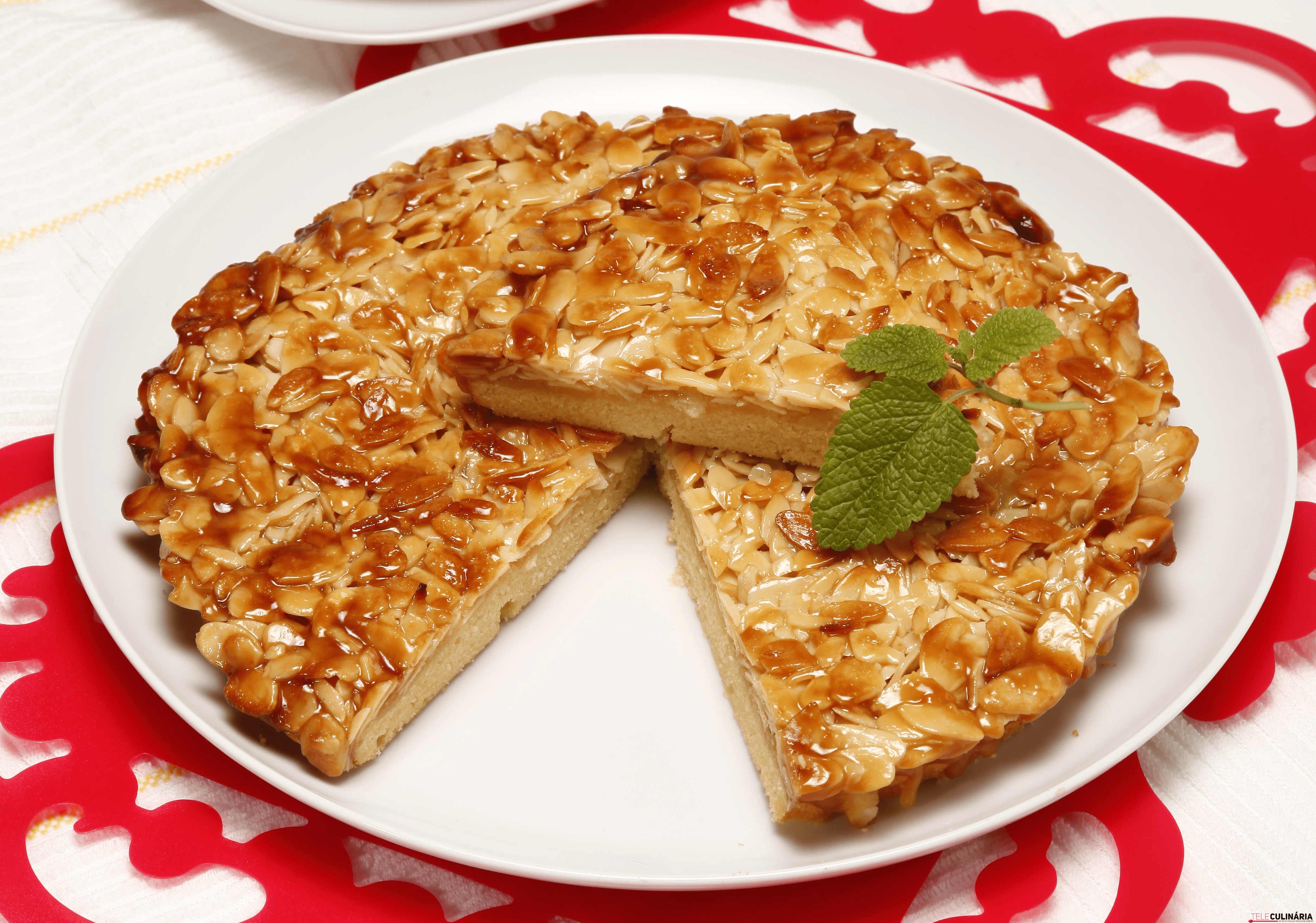 tarte de amendoa caramelizada