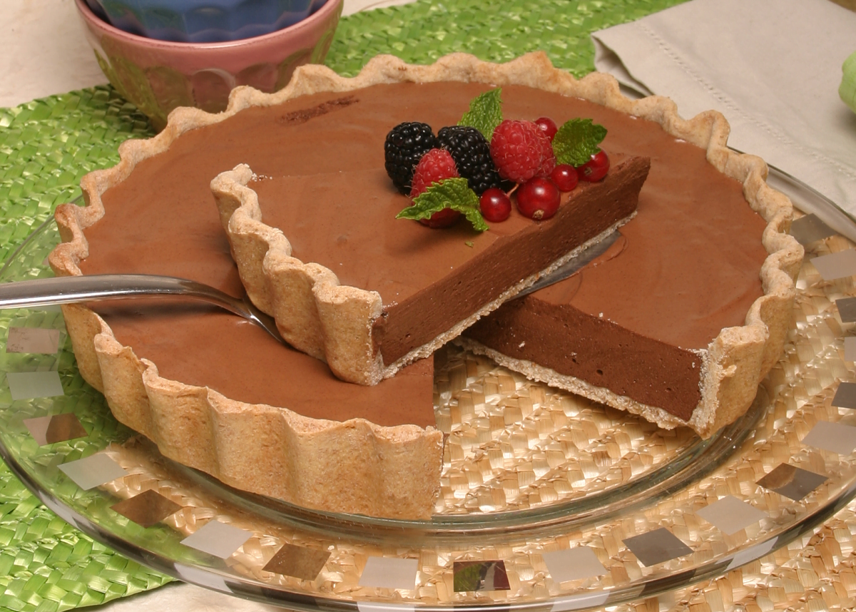 tarte de chocolate light