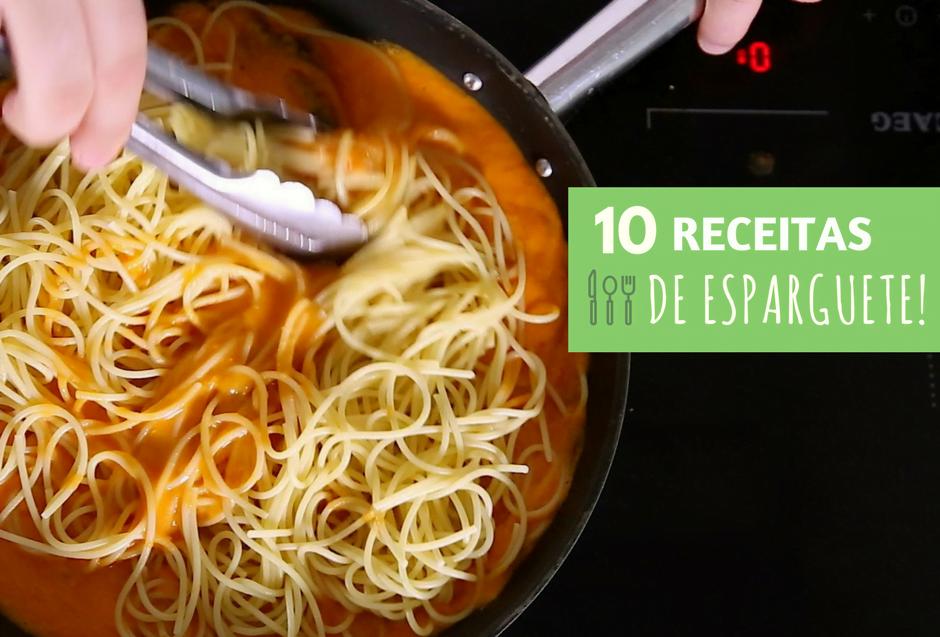 10 receitas de esparguete