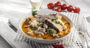 arroz de peixe e amêijoas