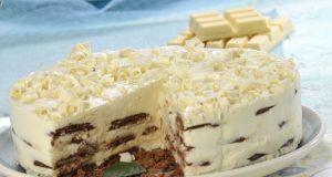bolo de bolacha com chocolate branco