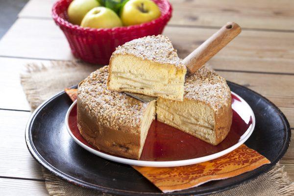 bolo de maçã e amêndoa