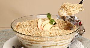 delícia de iogurte e maçã