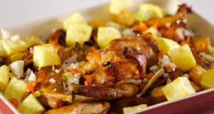 Coelho frito com batata