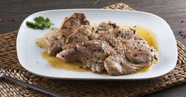 bifinhos de porco com pimenta vermelha