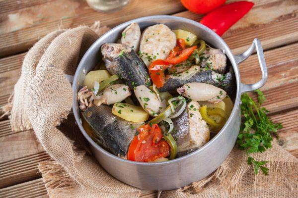 Receita de caldeirada de peixe