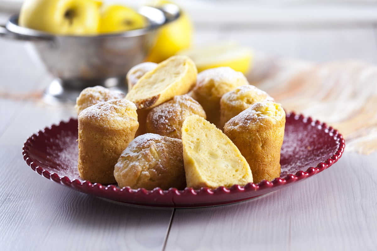 Muffins de maçã e iogurte