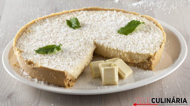 tarte de coco e chocolate branco
