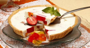 tarte de iogurte com gelatina