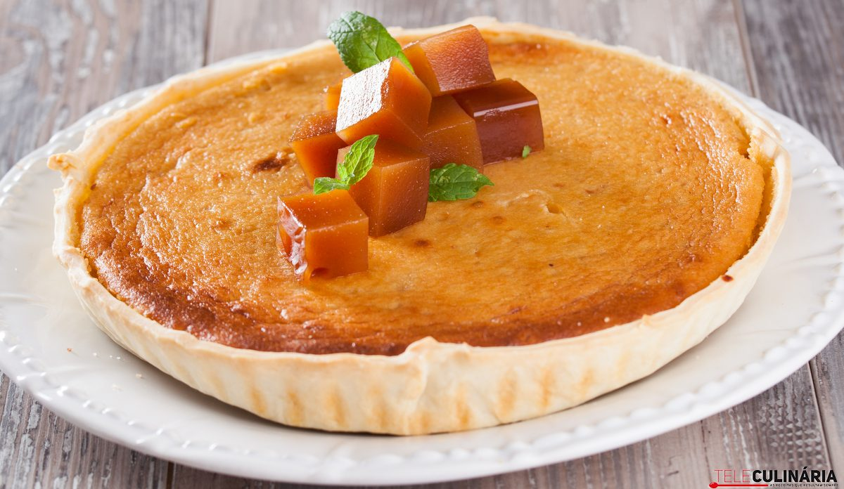 tarte de marmelada e amêndoa
