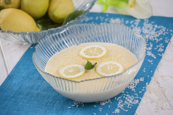 arroz-doce de limão