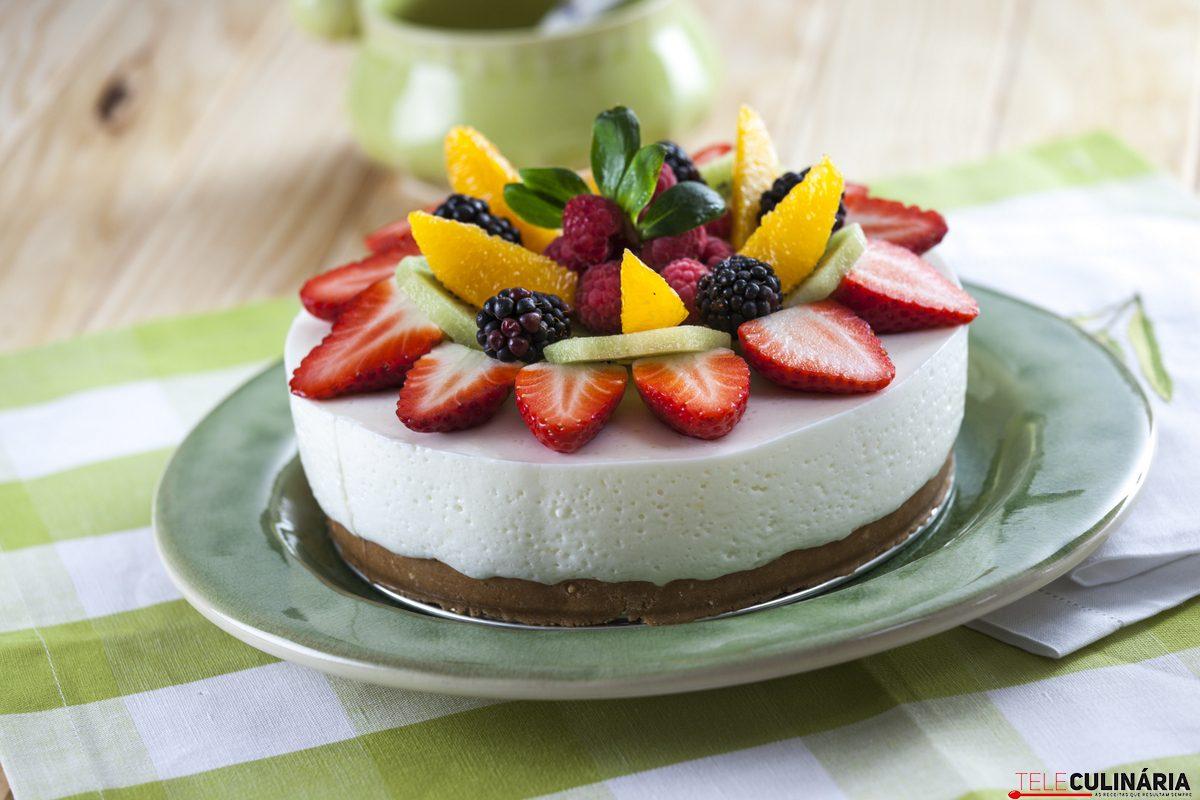 cheesecake de salada de fruta