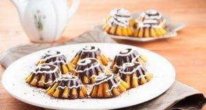 Queques de cenoura e chocolate