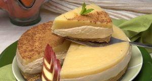 tarte de bolacha com maçã cozida