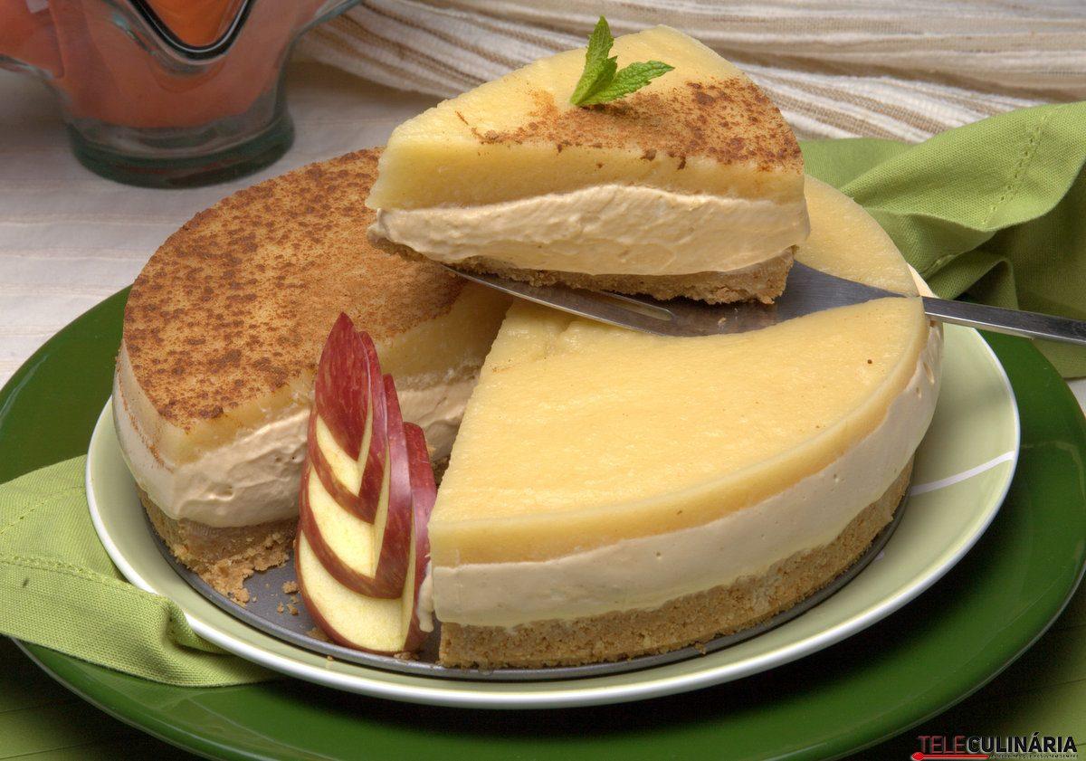 tarte de bolacha com maca cozida